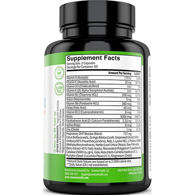 Hair Growth Vitamins >> Hair Growth Vitamins Supplement 2 Month Supply 120 Pills