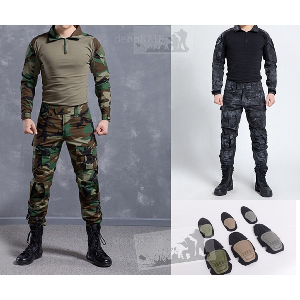 Airsoft Tactical Military Resistant Combat Gen3 Long Sleeve SHIRT Elbow Pad SWAT