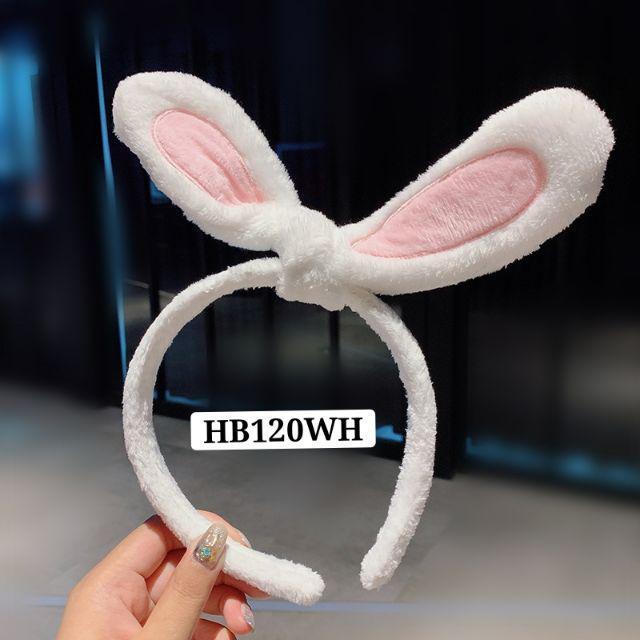 [ READY STOCK ]  Lovely Rabbit Ear Hairband Headband Solic Plush Head Hair Band Kid Baby Jualan Murah Makeup Cute Cartoon
