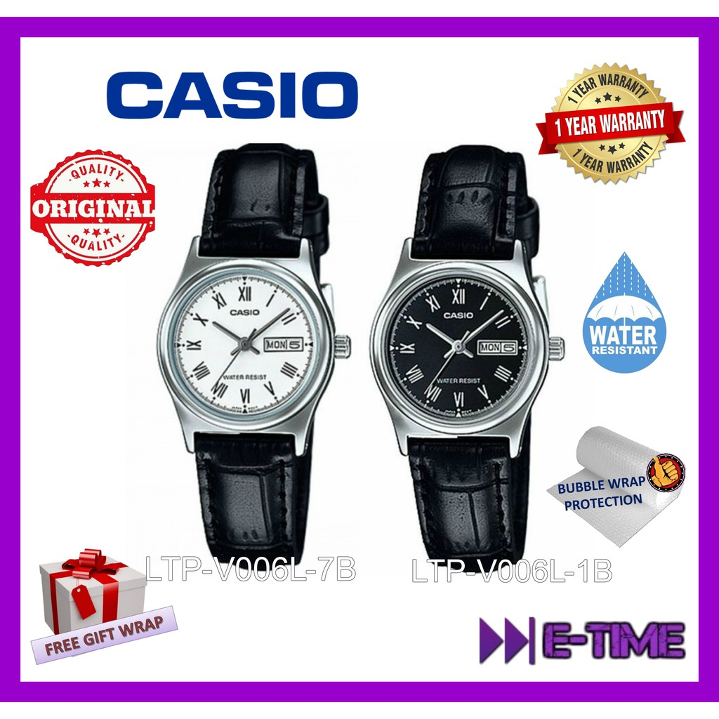 Casio Original Ltp 1302l 1b3 Couple Men Ladies Leather Watch Jam Tangan V005l 7b Arabic Numerals Shopee Malaysia