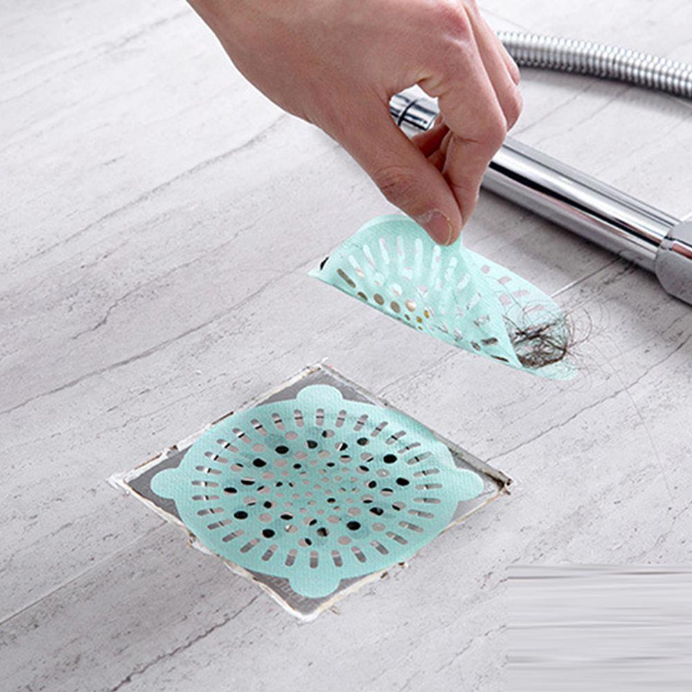 Home Waste Stopper Bathroom Hair Filter Disposable Sink Strainer Drain Sticker