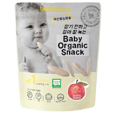 BABY FOOD | FAST DELIVERY | Bebedang: Baby Organic Puffed Rice Snack - Rice Bud & Apple (BEST BUY) | READY STOCK