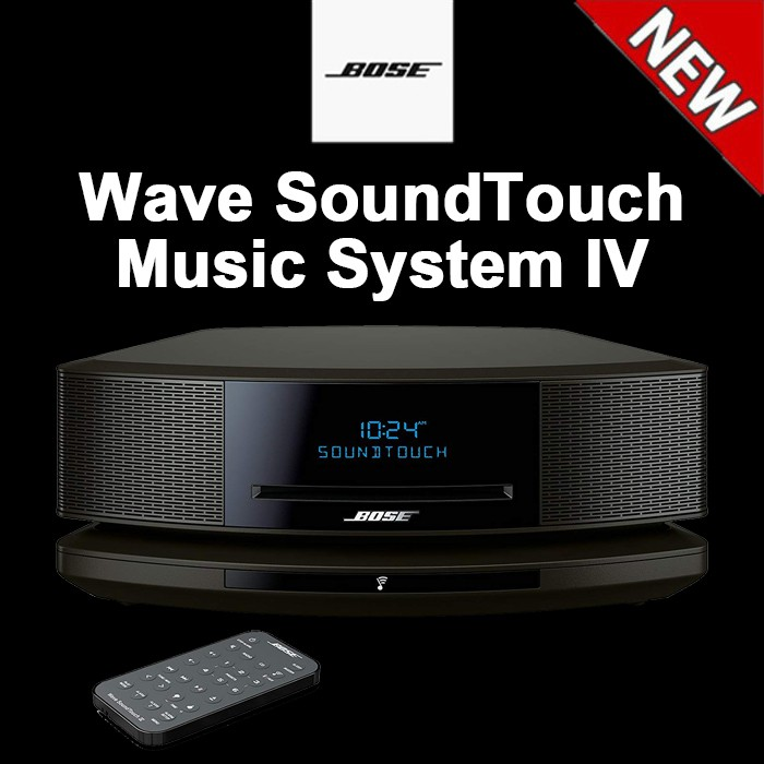 Bose Wave SoundTouch Music System 4 IV, works with Alexa, Espresso Black