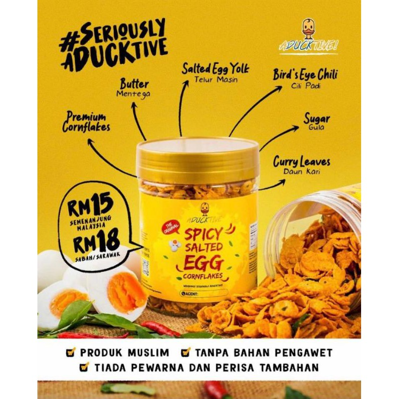 Aducktive Spicy Salted Egg Cornflakes