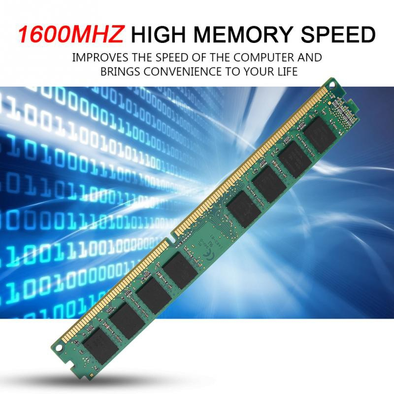 High Quality 240Pin DDR3 2GB 1600MHz Large Capacity PC12800 Memory Ram for PC