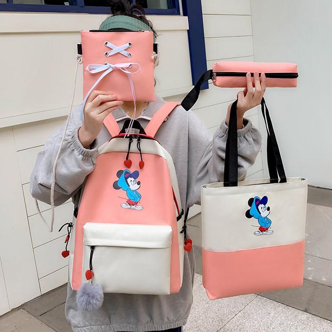 Mickey Mouse Backpack Sets Girlboy Backpack Lelaki Perempuan Beg 米奇老鼠背包 BP0010