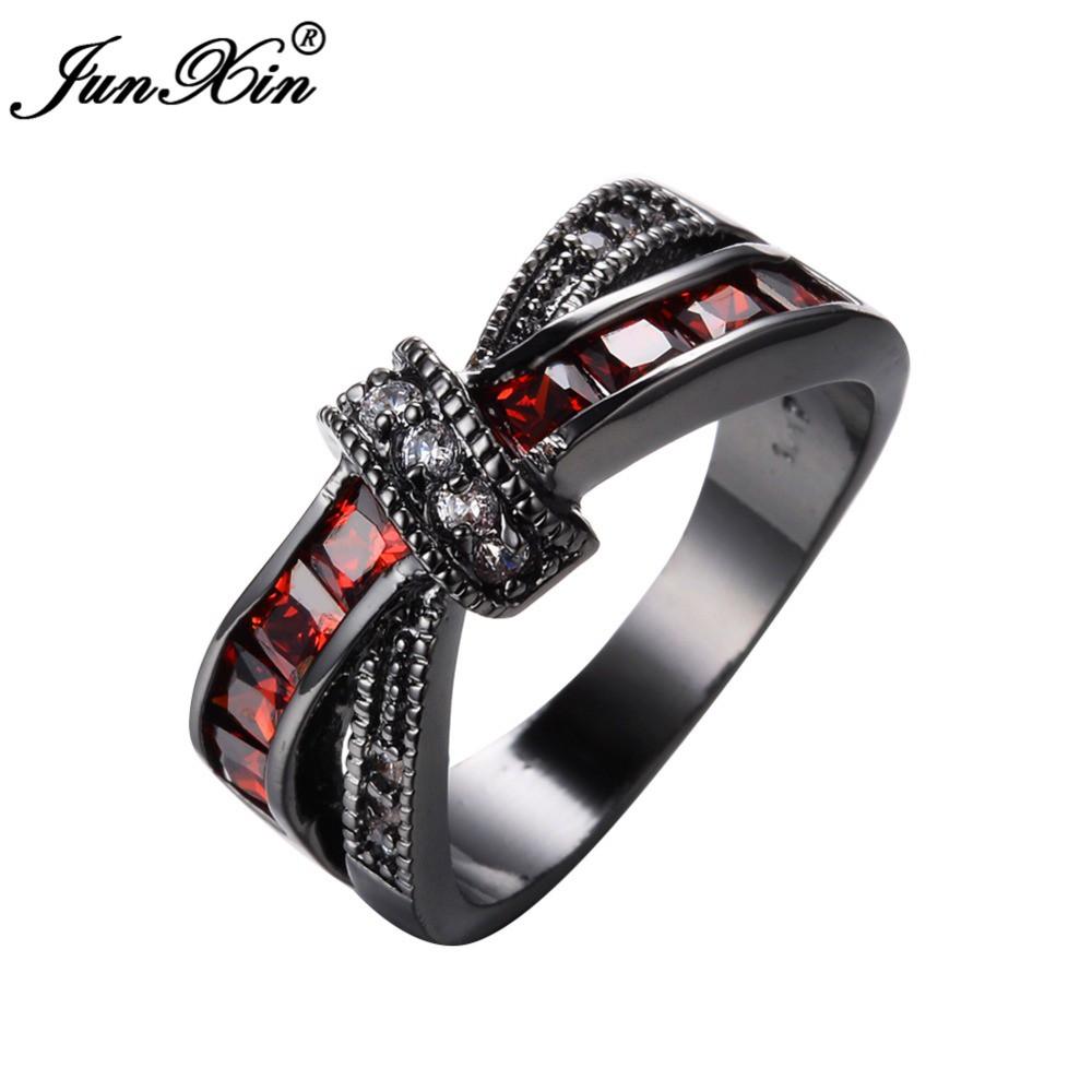 Junxin 2pcs Women Men Wedding Ring Sets Twisted Design Black Gold Cincin Pria Blue Sapphire Stainless Steel Filled Shopee Malaysia