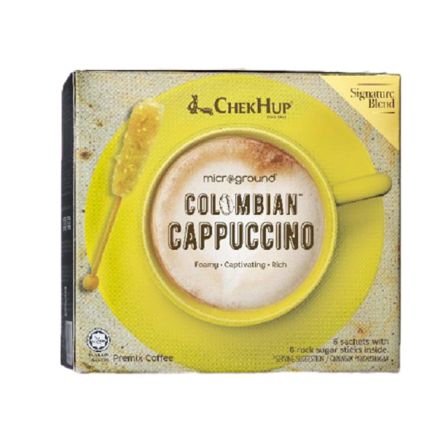 Chek Hup Microground Colombian Coffee (28g x 6s) [Combo Pack of 4 Latte and 4 Cappuccino]