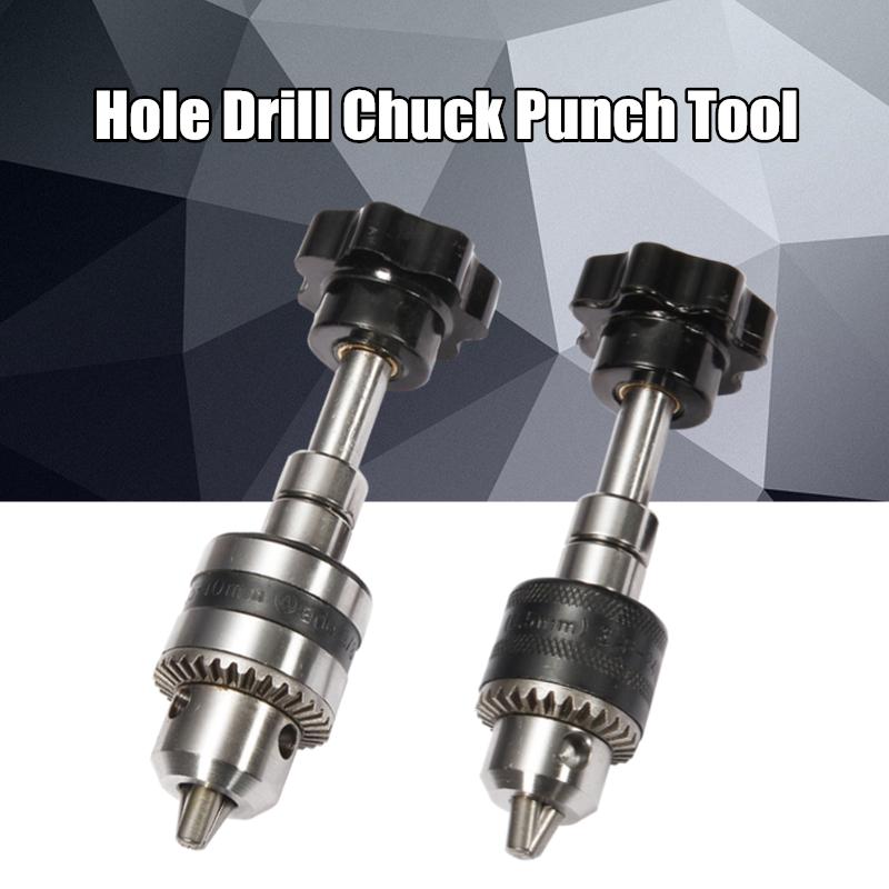 0.5-6.5MM Manual Drilling Chuck Hand Twist Bit Drill Hole Model Punch DIY  !