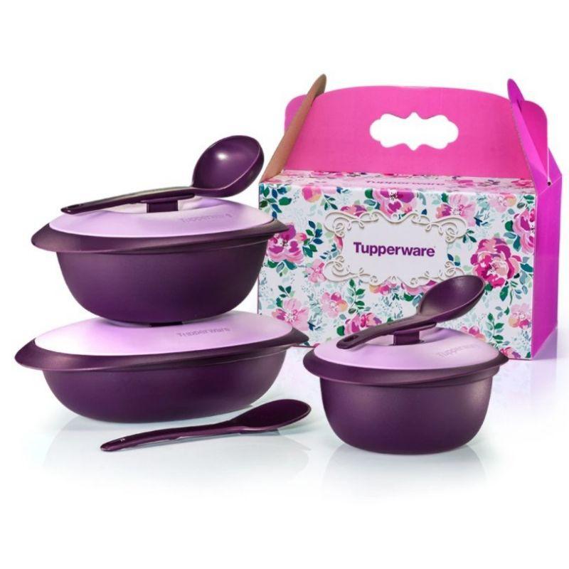 Tupperware Purple Royale Serveware Set 3pcs or 4pcs