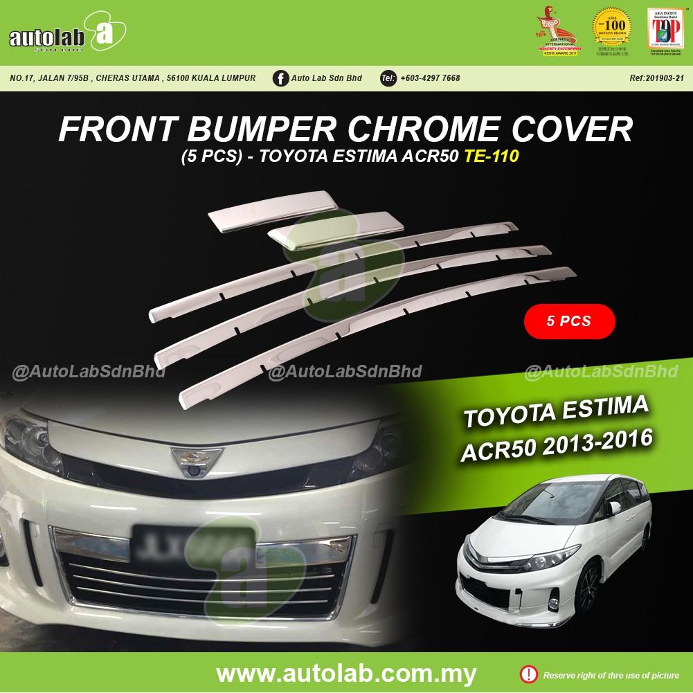 Front Bumper Chrome Cover (5pcs) - Toyota Estima ACR50 2013-2015