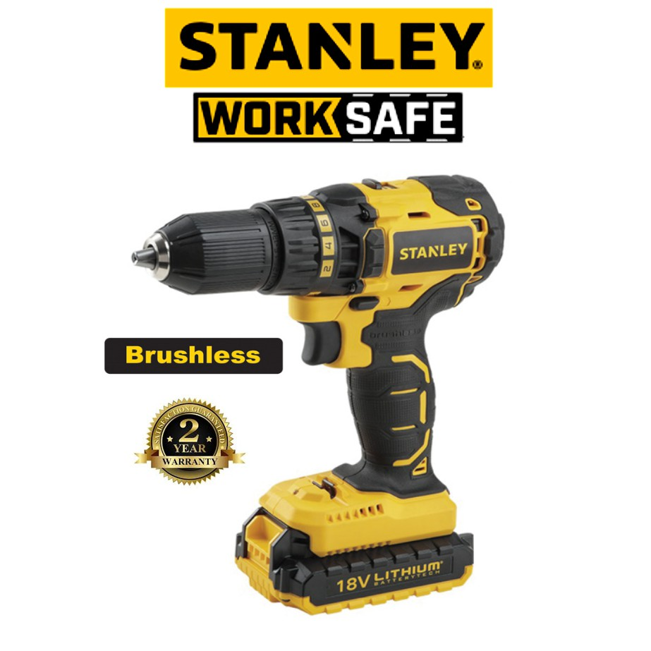 STANLEY SBD201D 18V MAX BRUSHLESS DRILL DRIVER(2 YEAR WARRANTY)