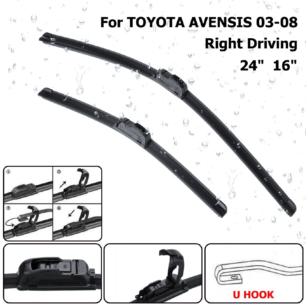 "TOYOTA Avensis 2003-2008 BRAND NEW WINDSCREEN WIPER BLADES 24/""16/"""