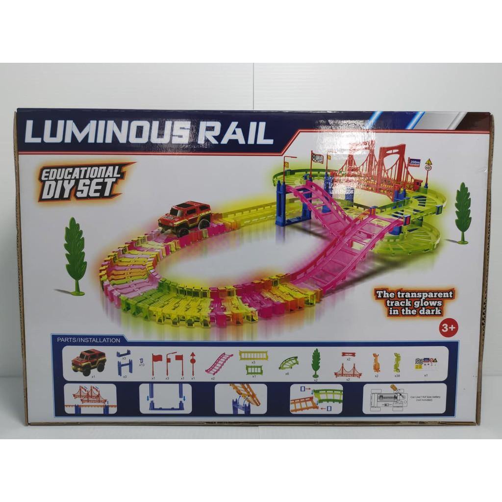 Luminous Rail Glowing Racing track 85pcs LIGHT IN THE DARK (educational DIY set)