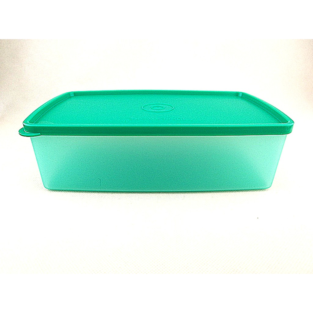 Tupperware Double Square Round Container 1.3 Litres Green
