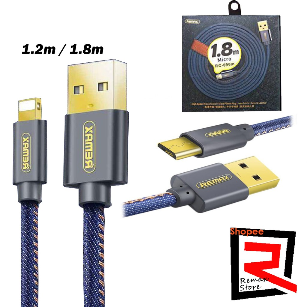 Remax Super High Speed Data Cable For Micro Usb Android Kabel Charge Full 2 Meter Support Quick Lightning Iphone Shopee Malaysia