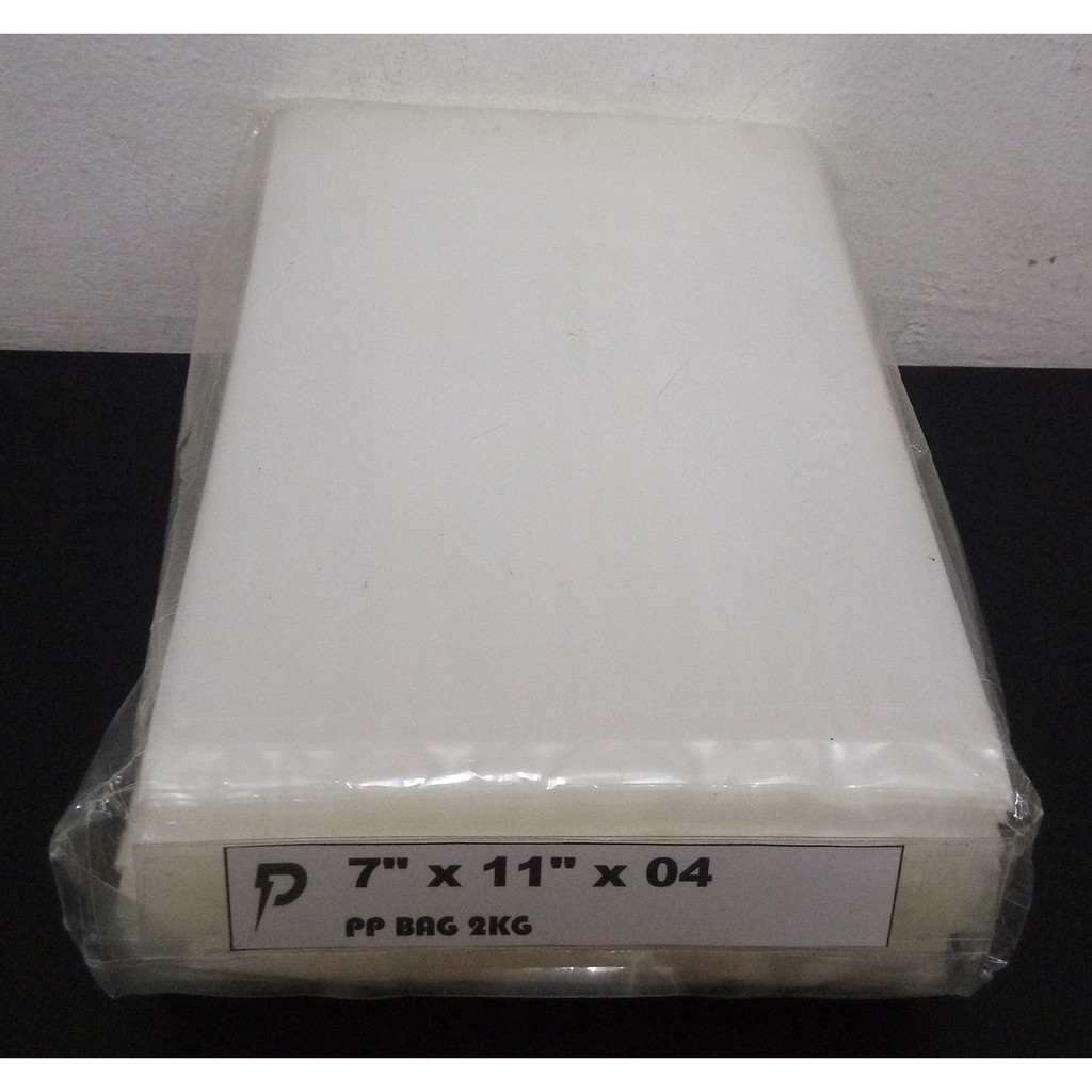 PP04 Clear Packing Bag / 7 x 11 inch Clear PP 04 (0.04mm) Plastic Bag / Thin PP Bag / Jenis Nipis / Pembungkus Lutsinar