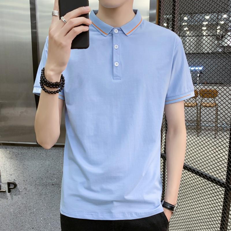 Vska Men Twill Large Size Classic Plaid Button-Collar Dress Shirt Lake Blue 4XL
