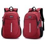 GDeal Unisex Fashion School College Reflective Backpack Leisure Travel Night Strip Laptop Bag Beg Sekolah بيڬ سکوله