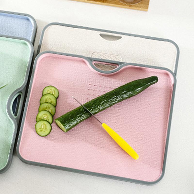GDeal Kitchen Utensils Wheat Knife Board Fruit Chopping Board Household Chopping Base