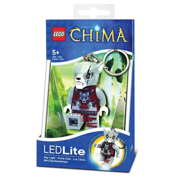 LEGO Legends of Chima Laval mini figure Keyring LED Light Lite Keychain