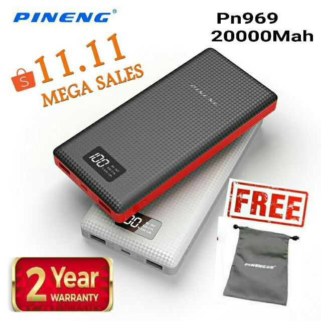 Pineng Power Bank 20000mah Pn920 External Battery Pack Powerbank With Led Display 5v 2.1a For Iphone Samsung Lg Htc Xiaomi Oppo At All Costs Advertising Cadillac