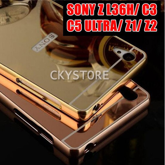 SONY XPERIA Z L36H/ C3/ C5 Ultra/ Z1/ Z2 MIRROR Metal Bumper Case | Shopee Malaysia