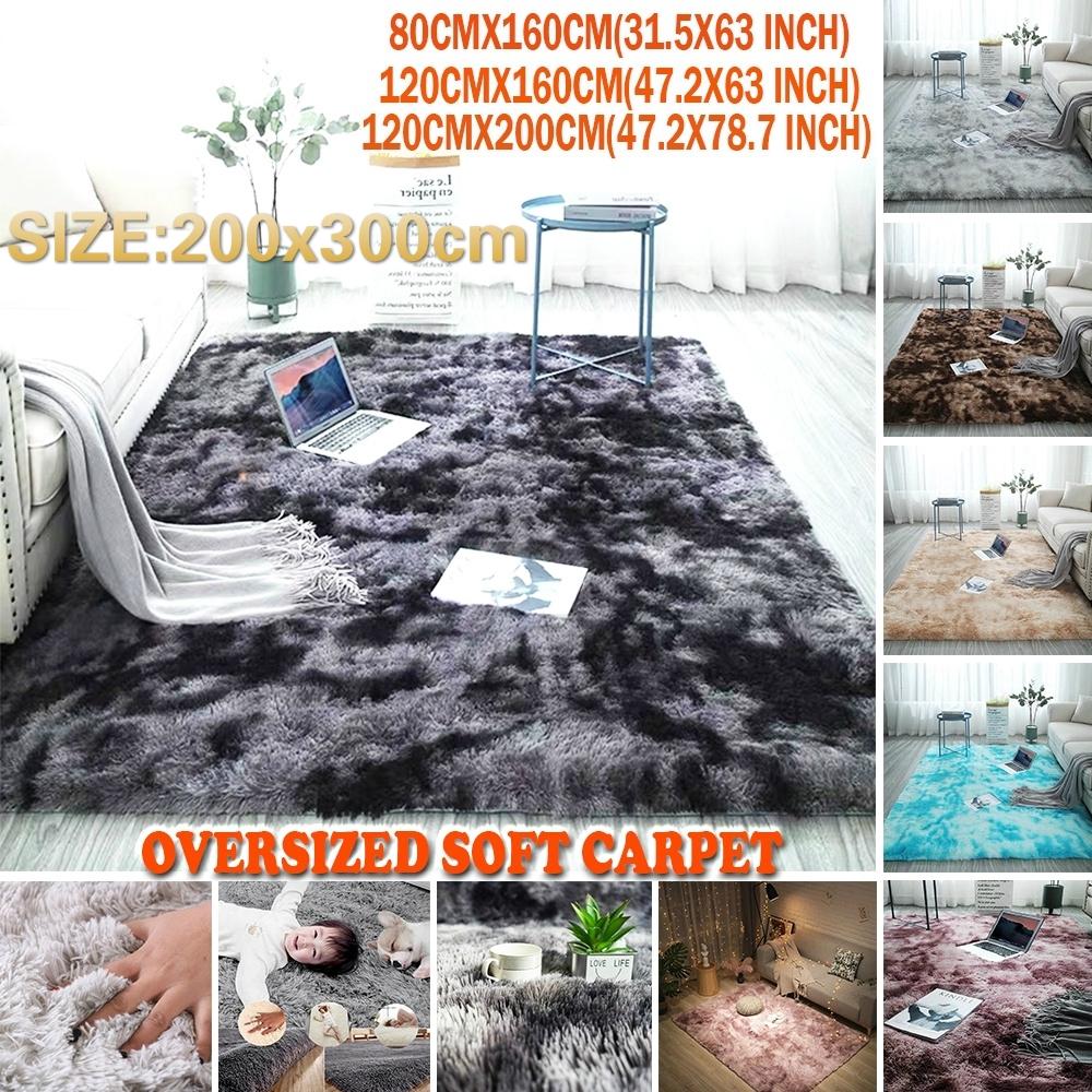 2020 New 200x300cm Oversied Fluffy Rug Tie Dye Art Carpet