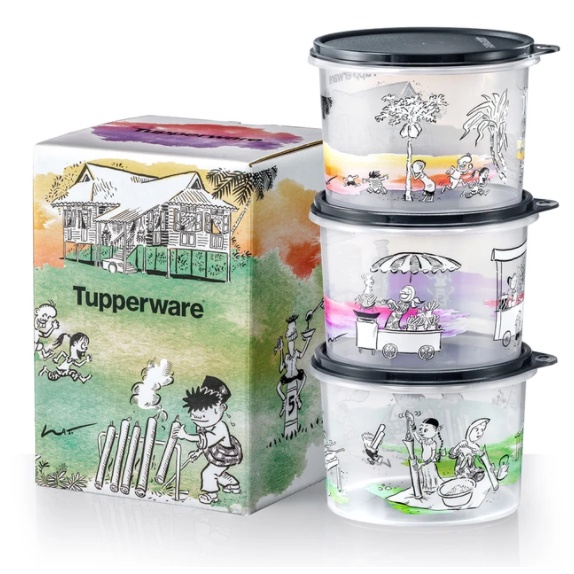 Tupperware Lat Kampung Boy Collection 1.1L with Gift Box