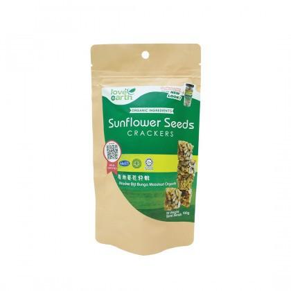 Love Earth Sunflower Seed Crackers 有机葵花籽酥 100g