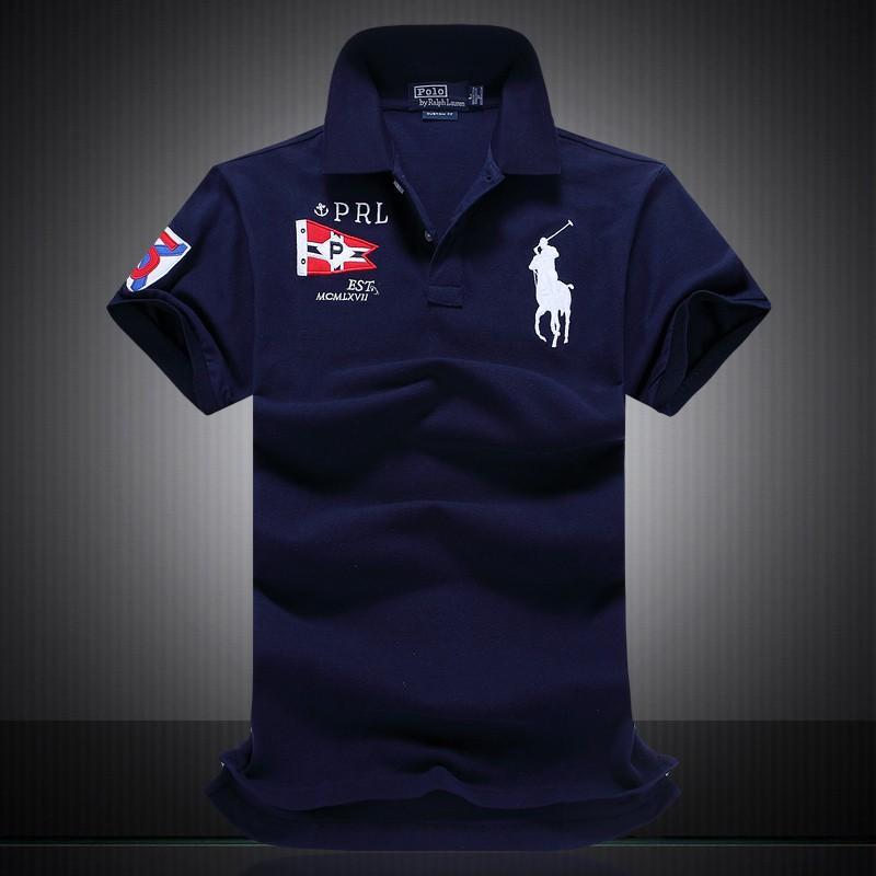 258e9ac3bfe4c Ralph Lauren Men Big Pony Short Sleeves Polo Shirt Est MCMLX VII Royal Blue
