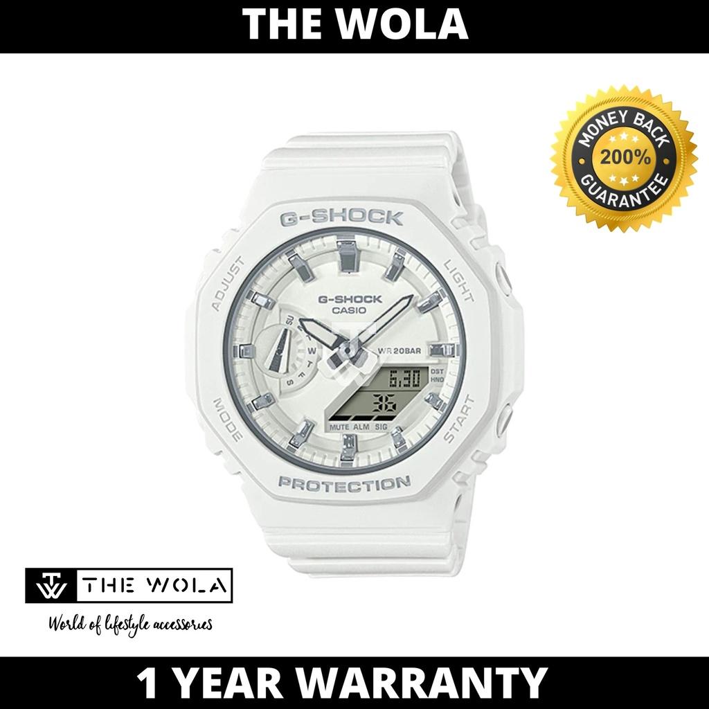 Casio G-Shock S Series Women's Analog-Digital GMA-S2100-7ADR Carbon Core Guard White Resin Band Sport Watch