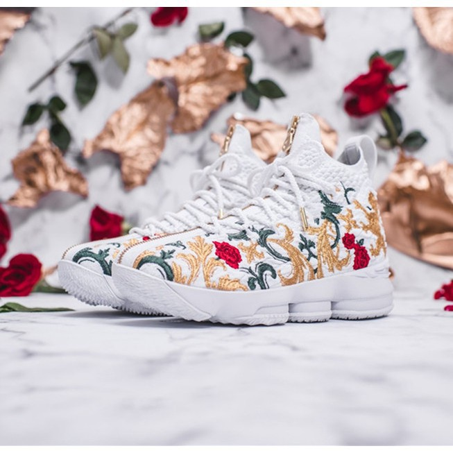 "watch 2ca70 d7db4 Kith x Nike LeBron 15 ""Flowers"" Men's high-top breathable basketball shoes"