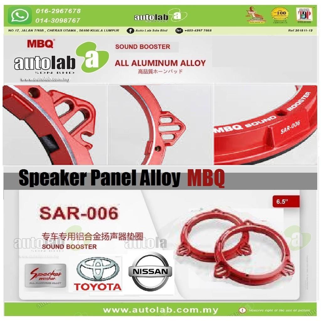 "Speaker Panel Alloy Sound Booster MBQ 6.5"" Toyota/Nissan Universal SAR-006"