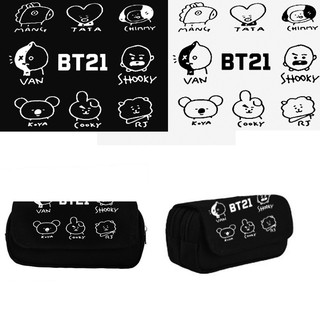 BTS bulletproof youth group BT21 pencil bag surrounding student stationery  box c