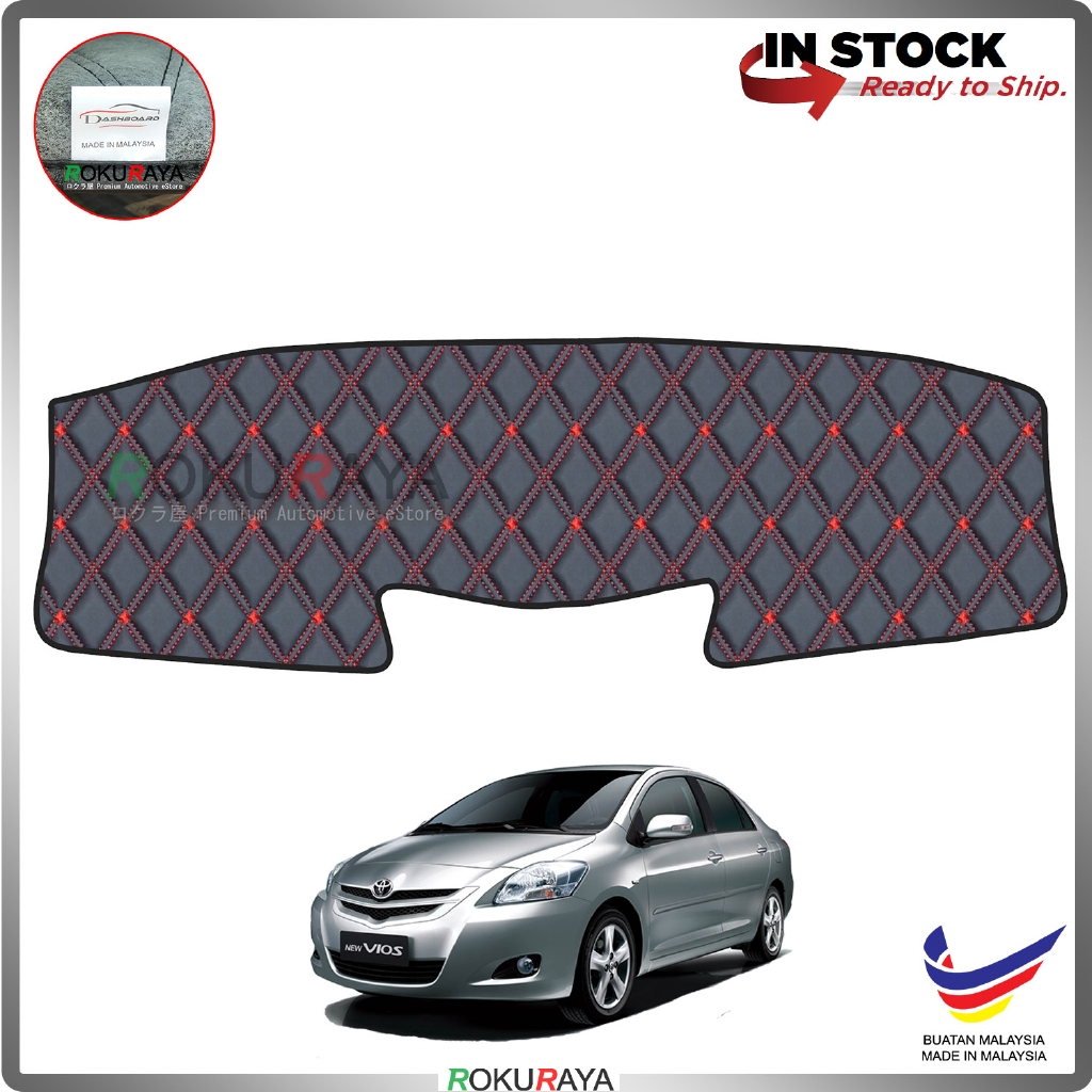 Toyota Vios Dugong NCP93 (2nd Gen) 2007-2013 RR Malaysia Custom Fit Dashboard Cover (RED LINE)