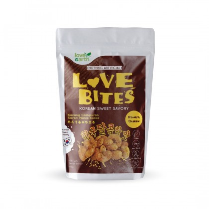 Love Earth Love Bites Korean Sweet Savory 浅烤系列 韩式辛香甜味坚 40g