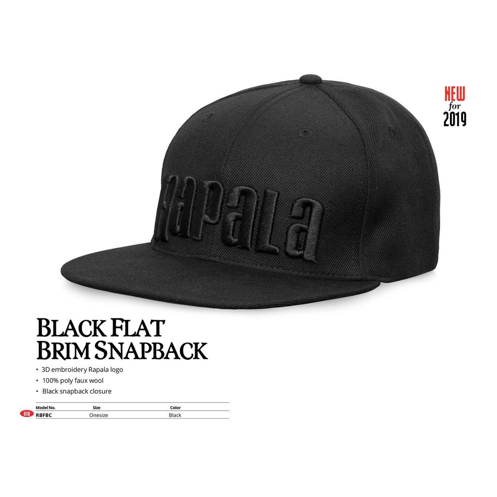 0cf9f4b80 BLACK FLAT BRIM SNAPBACK
