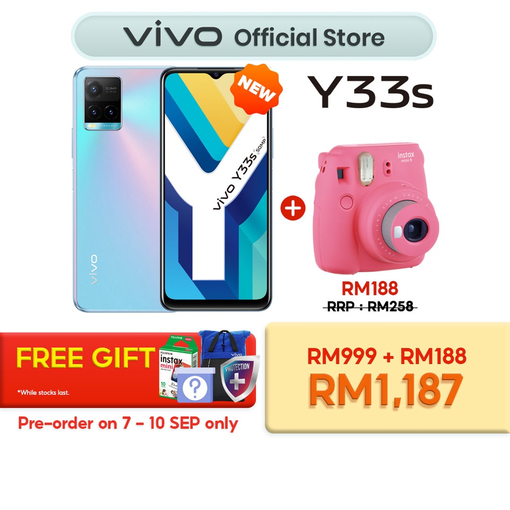 Bundle vivo Y33s with Fujifilm Instax Mini 9