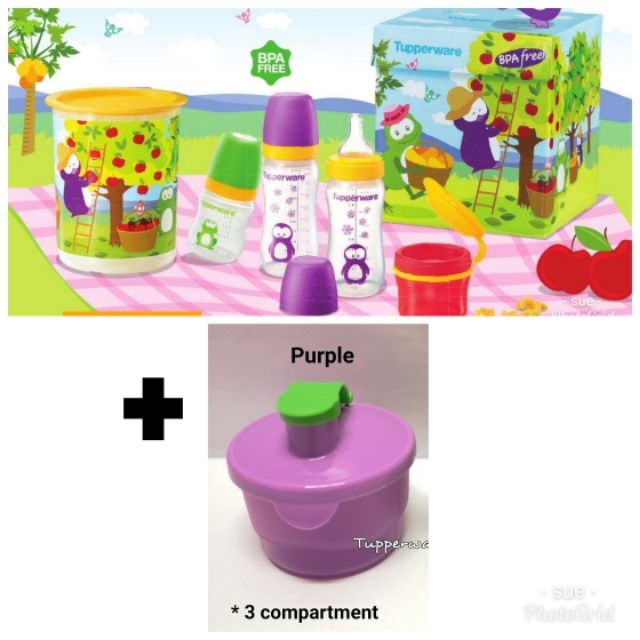 New Tupperware Twinkle Baby Formula Dispenser 3 Compartment