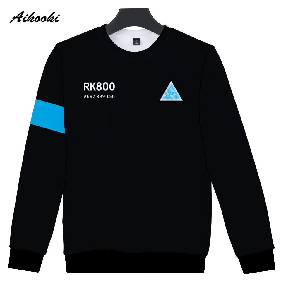 96784a57dbe Aikooki RK800 Detroit Become Human 3D Sweatshirt Men Women Hip Hop 3D  Hoodies Sweatshirt