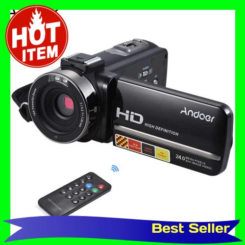 Andoer HDV-3051STR Portable 24Mega Pixels Digital Video Camera (Black)