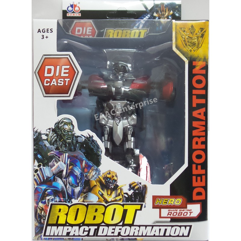 Impact Transformer Letrons Robot Vehicle with Pull Back Function