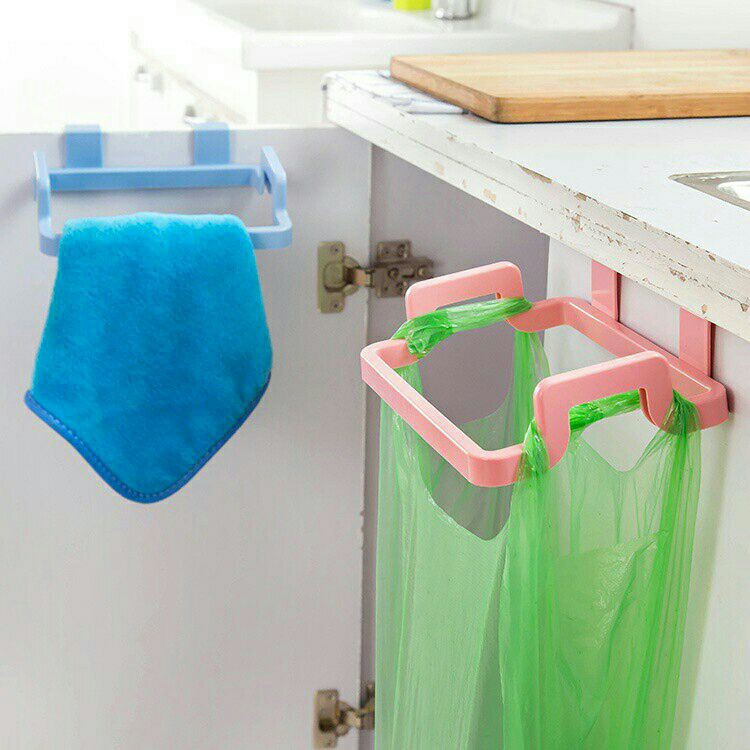 Ready Stock Trash Bag Holder Wipers Rack Kitchen Cupboard Hanger
