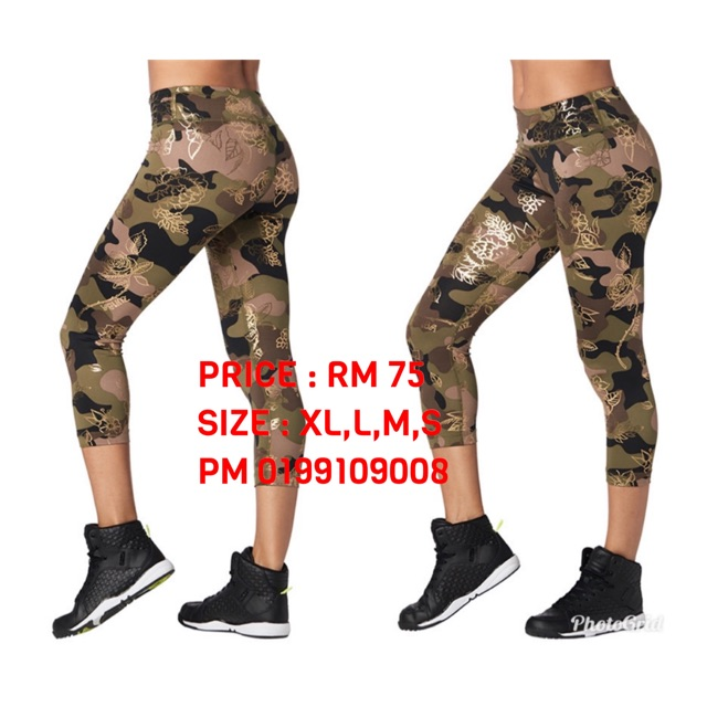 2ee2a5d87ca51 ProductImage. ProductImage. Zumba Fitness Leggings Army Capris