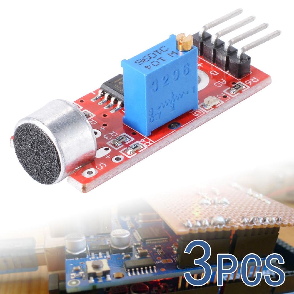 3 Microphone Sensor Sensitivity Sound Voice Detection Module For Arduino  PIC AVR