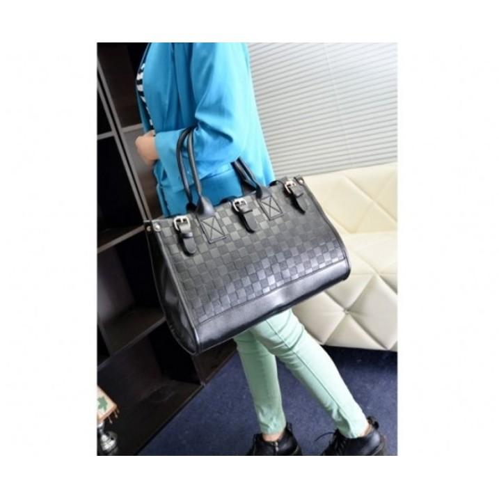 77757040a95 Women Checkerboard Handbag Tote Shoulder Crossbody Sling Bag