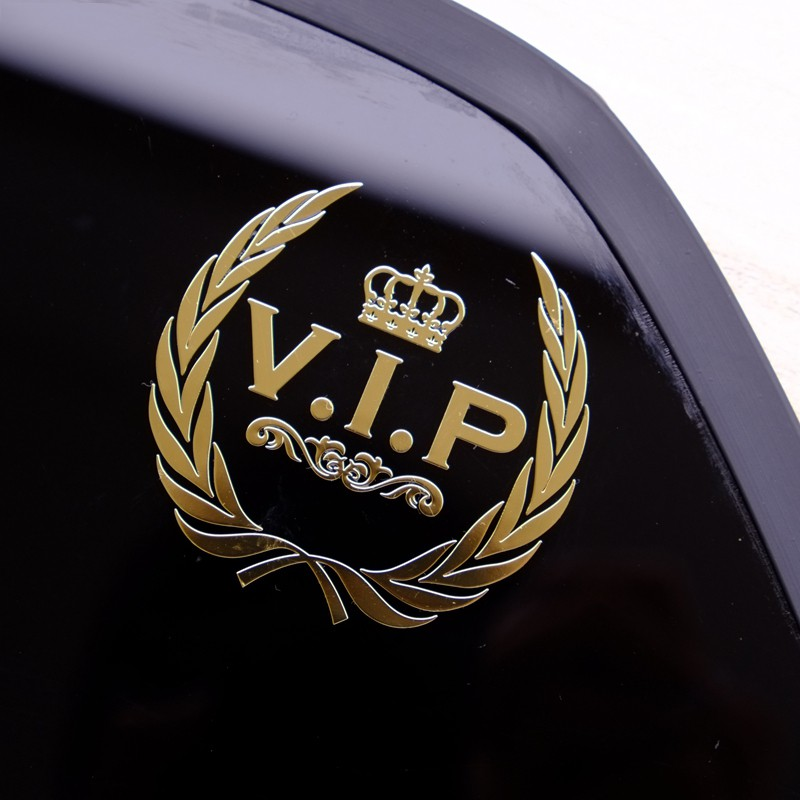 2x Red Black Metal LIMITED EDITION Badge Sticker Emblem VIP Premium Auto 3D Logo