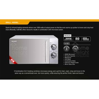 Sharp R613cst Grill Microwave Oven 20l Sold Out