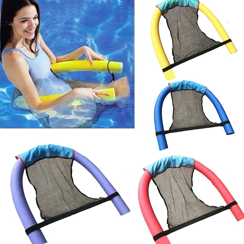 Floating Pool Noodle Sling Mesh Chair Net for Swimming Seat Water Relaxation Fun